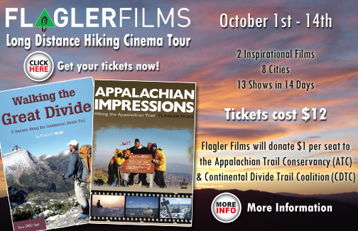 Flagler Films Long-Distance Hiking Cinema Tour begins October 1st to the 14th 2014