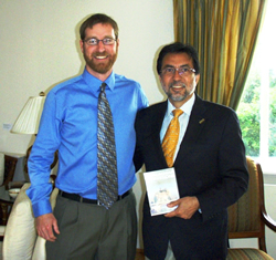 Mark Flagler with Luis E. Arreaga (the U.S. Ambassador to Iceland)