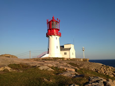 Southern most lighthouse in mainland Norway