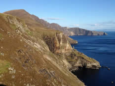 Slieve League and coastline