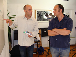 Ronan Coyle (artist) and Tom Hopkins (One Productions)