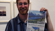 Mark and newspaper article, NM