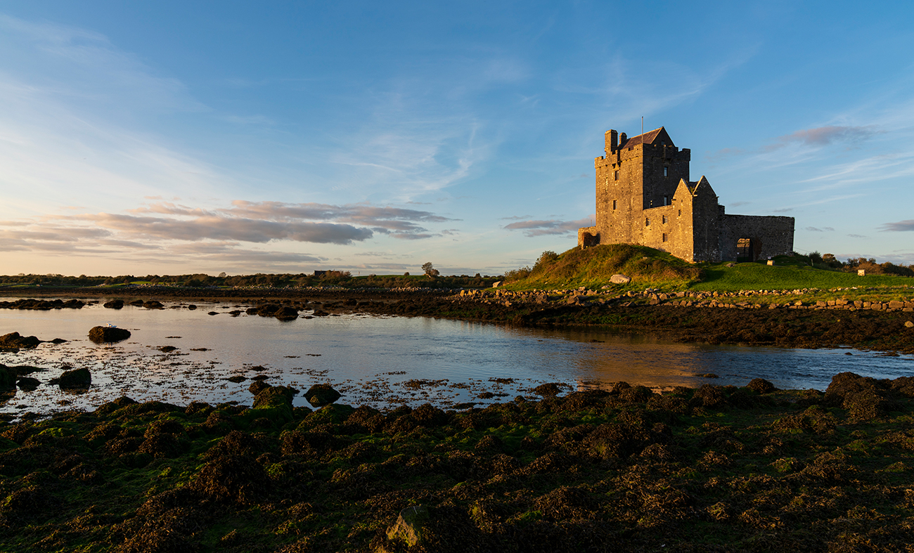 Dunguaire Castle at dusk, Co. Clare, Ireland
