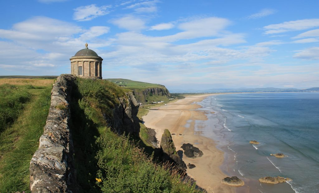Mussenden Temple above the Atlantic Castlerock, Northern Ireland
